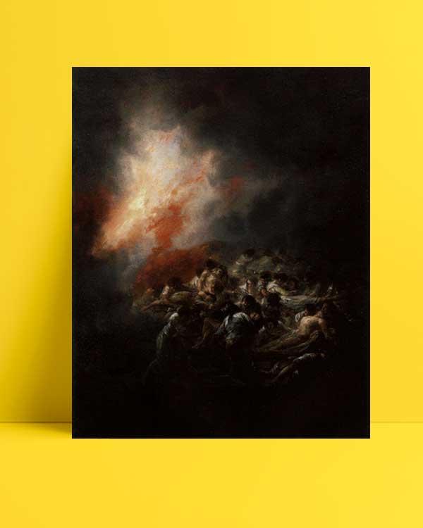 Francisco Goya - Gece Yangını afişi