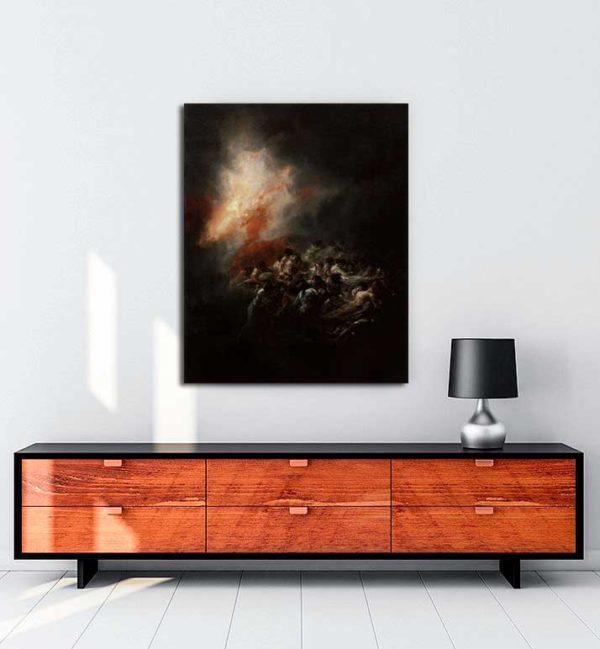 Francisco Goya - Gece Yangını kanvas tablo