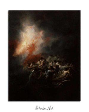 Francisco Goya - Gece Yangını posteri