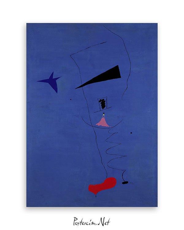 Joan Miró – Mavi I posteri
