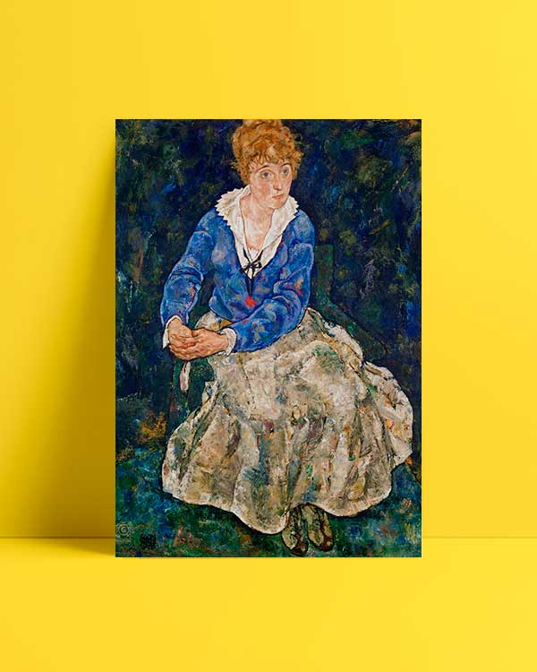 Portrait of the Artist's Wife Seated afiş