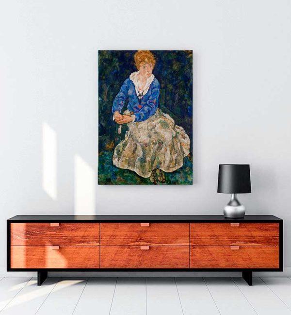 Portrait of the Artist's Wife Seated kanvas tablo