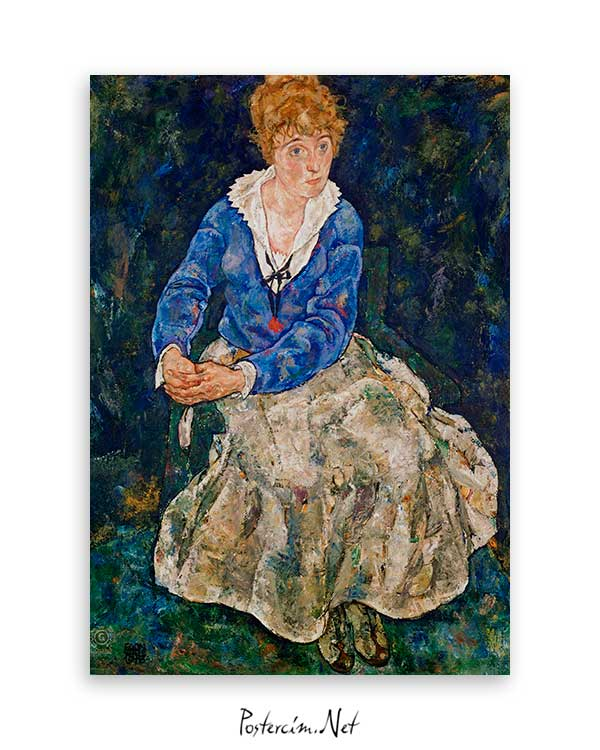 Portrait of the Artist's Wife Seated poster