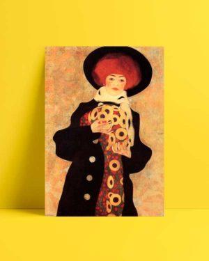 Woman With Black Hat Afiş