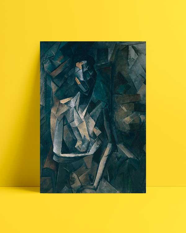 Seated Nude, Femme Nue Assise afiş