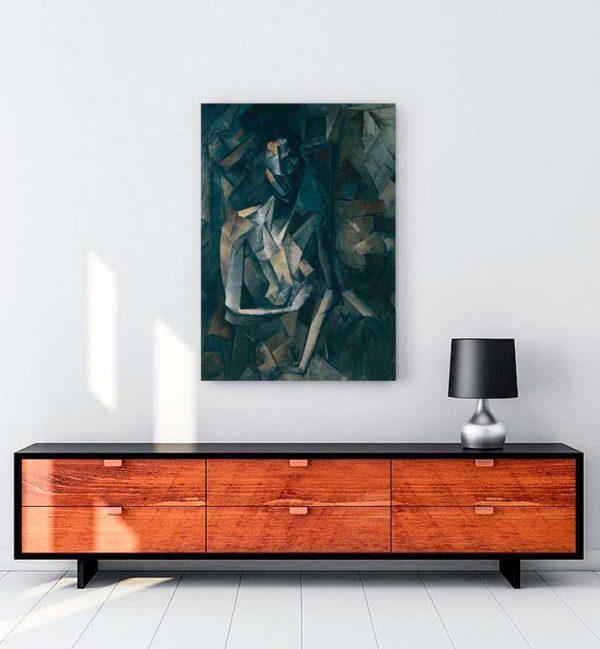Seated Nude, Femme Nue Assise kanvas tablo