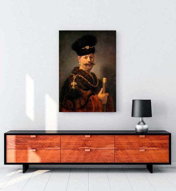 A Polish Nobleman kanvas tablo