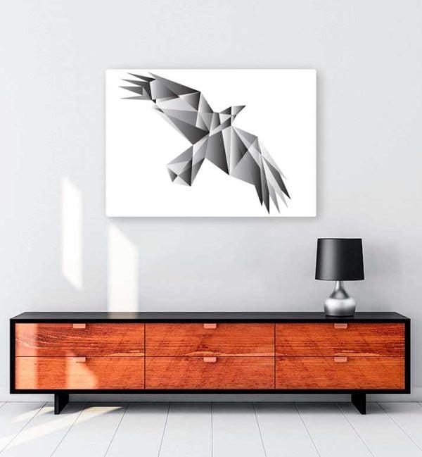 Architectural Bird kanvas tablo