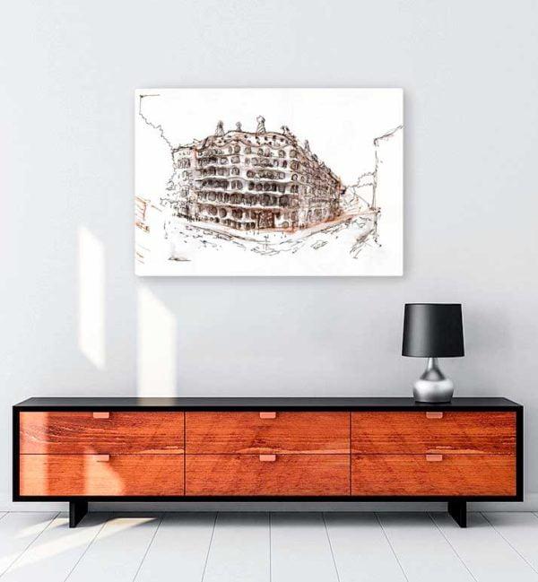 Architectural Drawings 10 kanvas tablo
