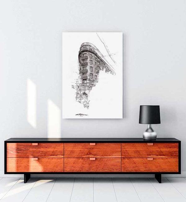Architectural Drawings 8 kanvas tablo