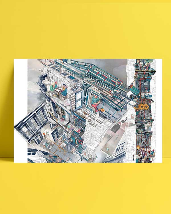 Architectural Drawings 4 afiş