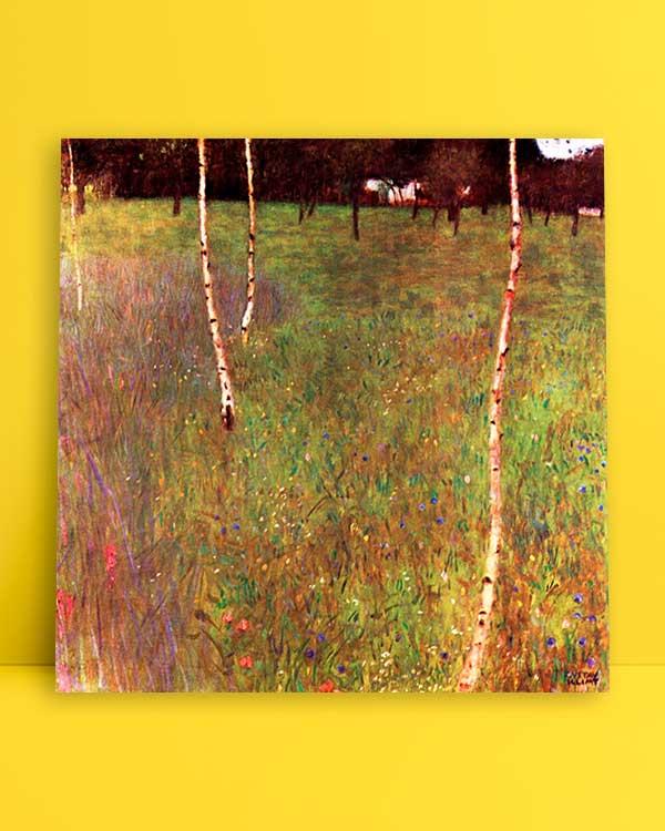 Beech Trees and Farmhouse afiş