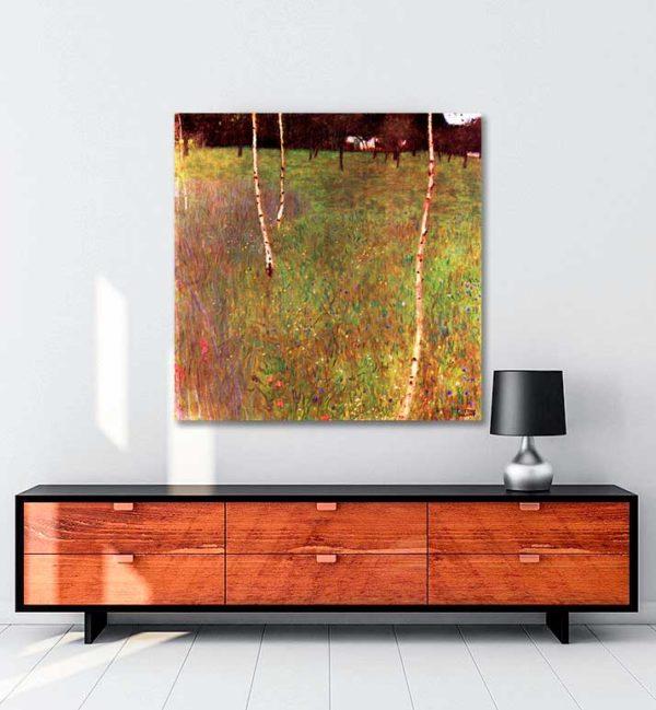 Beech Trees and Farmhouse kanvas tablo