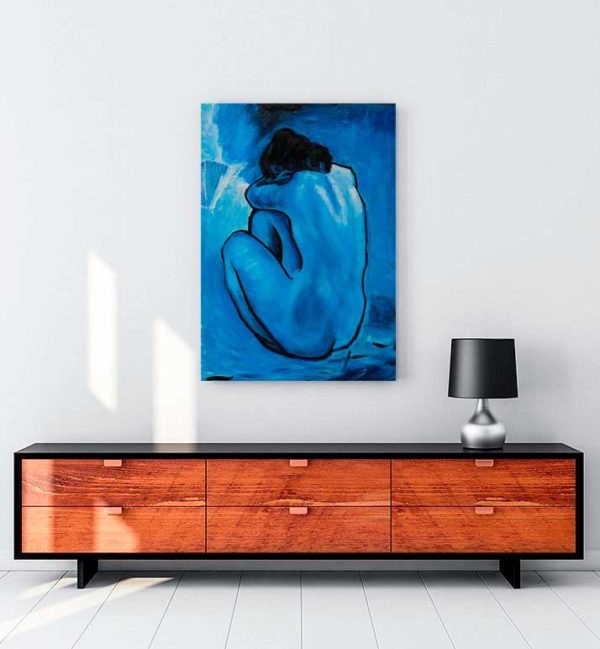 Blue Nude kanvas tablo