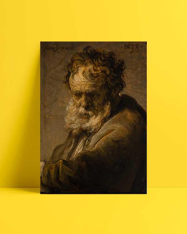 Bust Of A Bearded Old Man afiş