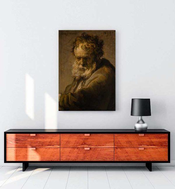 Bust Of A Bearded Old Man kanvas tablo