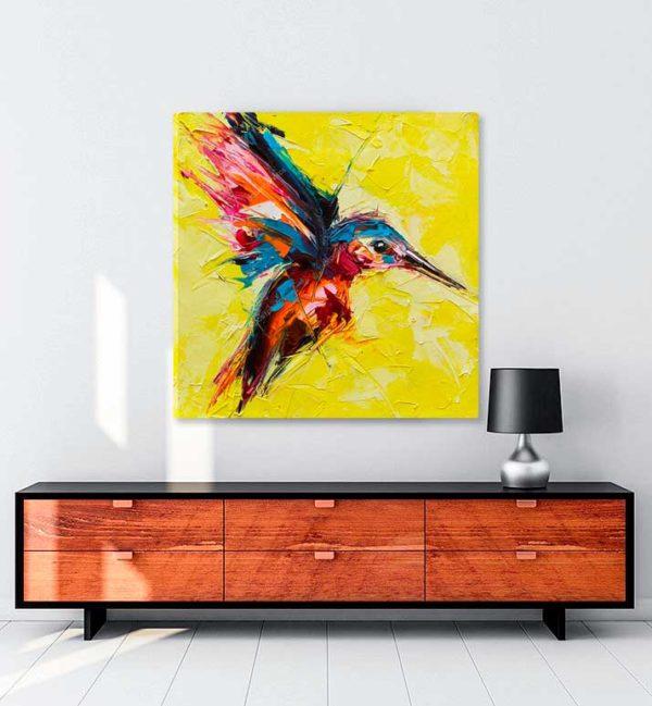 Çılgın Kuş kanvas tablo