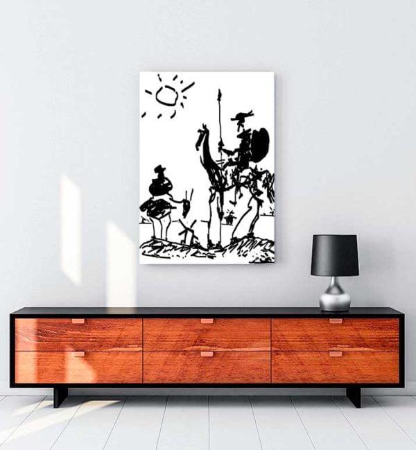Don Quixote kanvas tablo