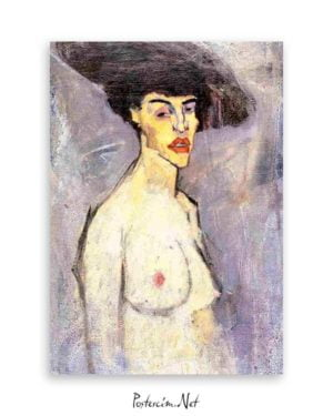 Female Nude With Hat poster
