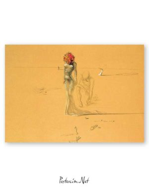 Female With Head Of Flowers poster