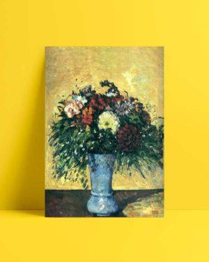 Flowers in The Blue Vase afiş