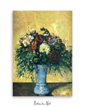 Flowers in The Blue Vase poster