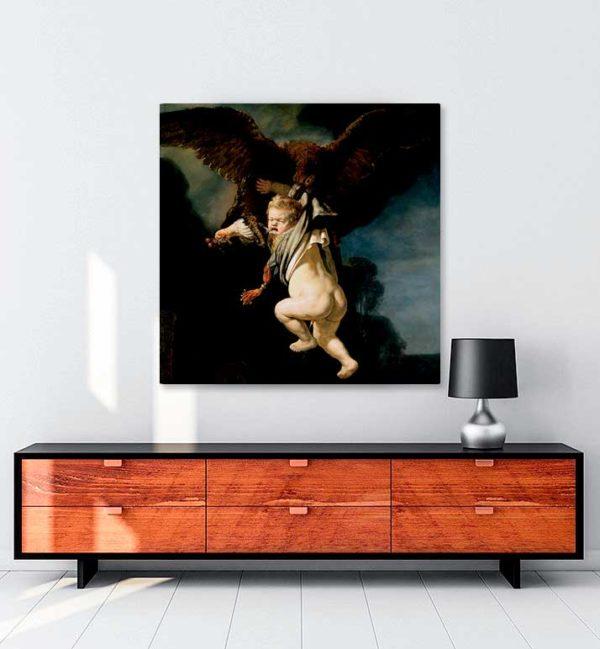 Ganymedesin Abduction kanvas tablo