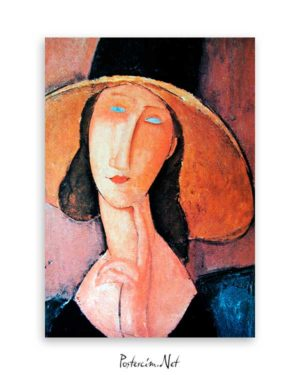 Jeanne Hebuterne in Large Hat poster