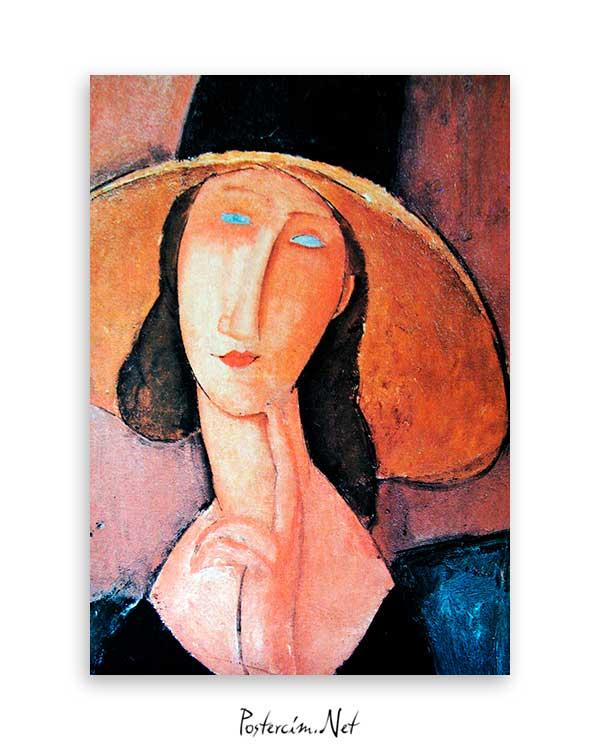 Jeanne Hebuterne in Large Hat poster
