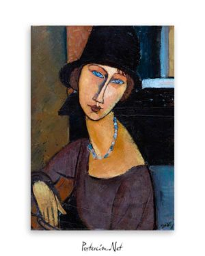 Jeanne Hebuterne With Hat and Necklace poster