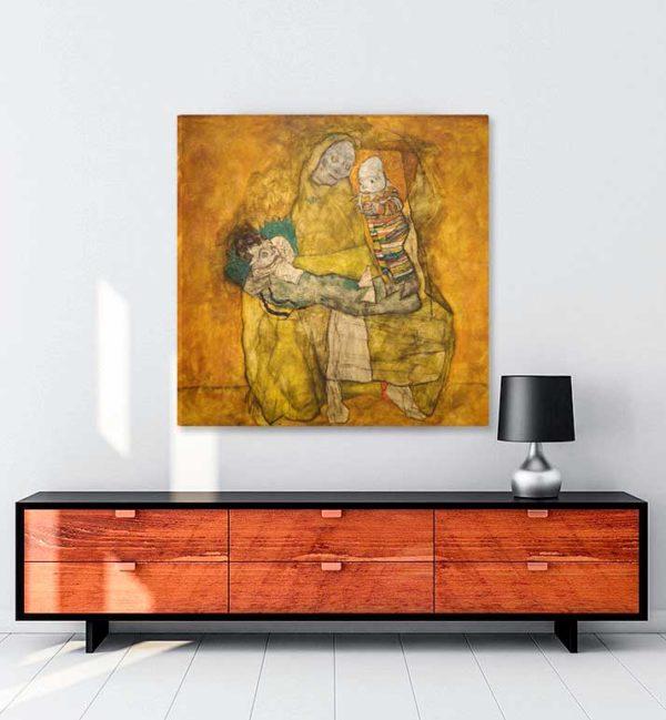 Mother with Two Children kanvas tablo