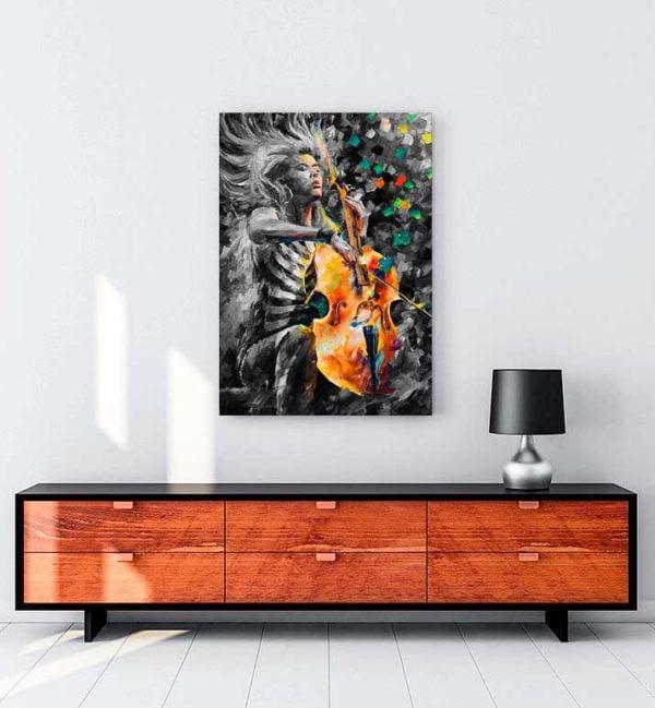 Music Soul kanvas tablo