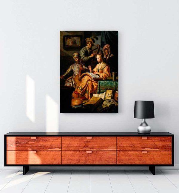 Musical Allegory kanvas tablo