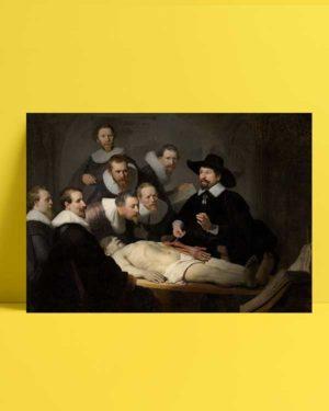Nicolaes Tulps Anatomy Lesson afiş