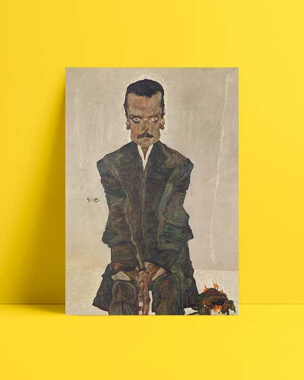 Portrait of Eduard Kosmack Afiş