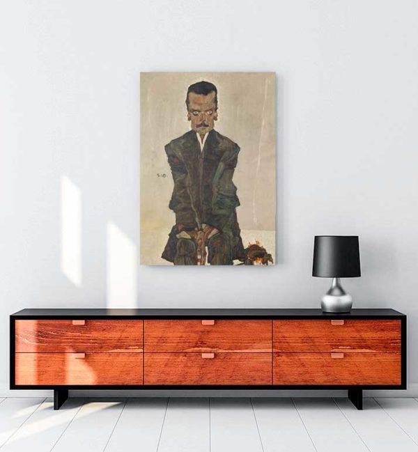 Portrait of Eduard Kosmack Kanvas Tablo