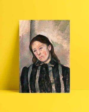 Portrait of Madame Cezanne afiş