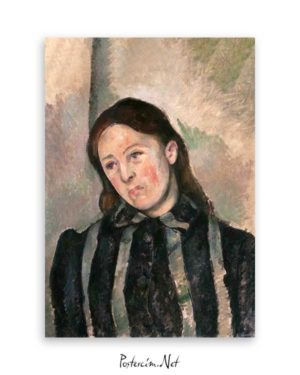 Portrait of Madame Cezanne poster
