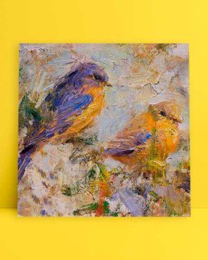 Sarı Mor Kuş afiş