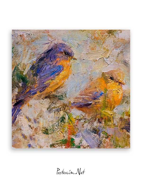Sarı Mor Kuş poster