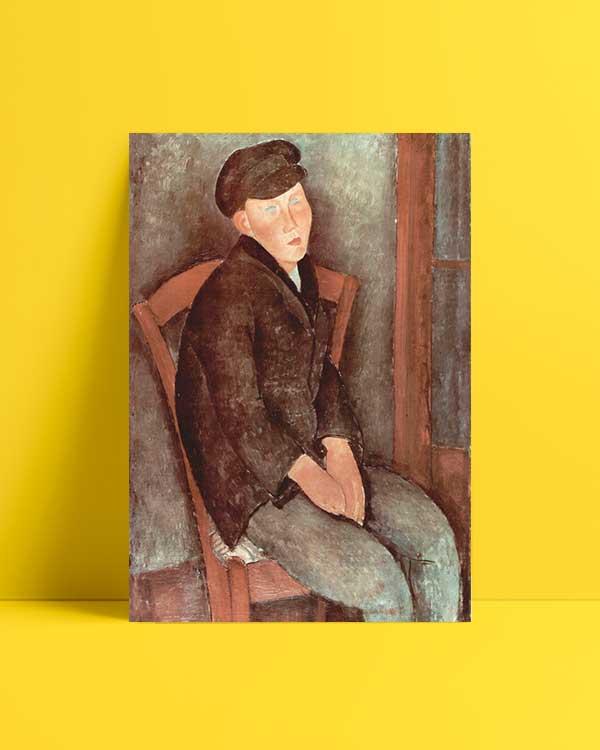 Seated Boy with Cap afiş
