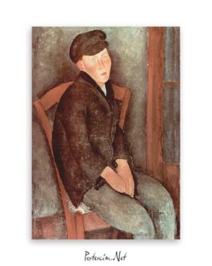 Seated Boy with Cap poster