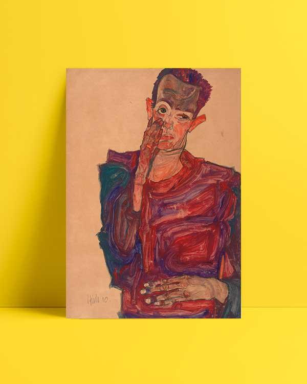 Self Portrait with Hand to Cheek Afiş