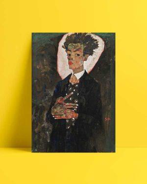 Self-Portrait with Peacock Waistcoat, Standing Afiş