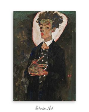 Self-Portrait with Peacock Waistcoat, Standing Poster