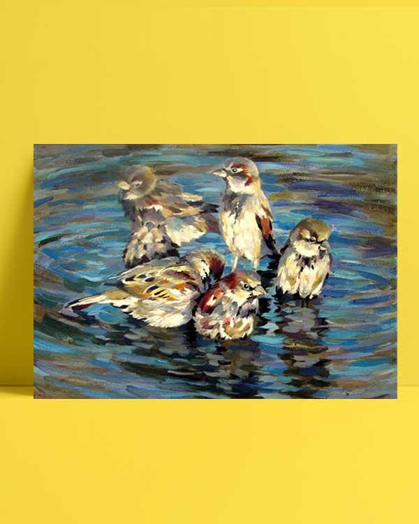 Sparrow Family afiş
