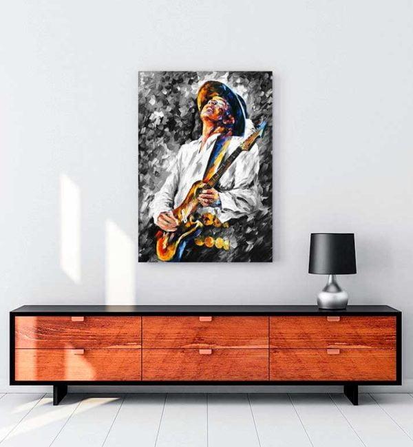 Stevie Ray Vaughan kanvas tablo