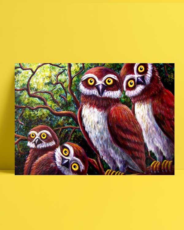 Surprised Owls afiş
