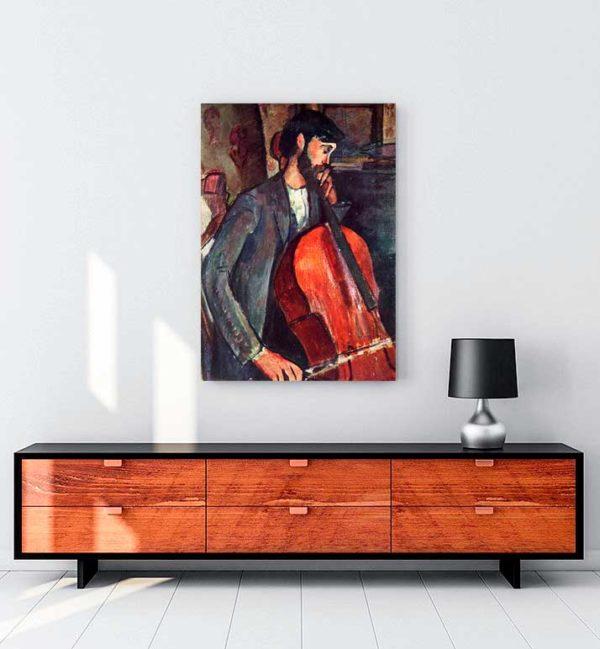 The Cellist kanvas tablo