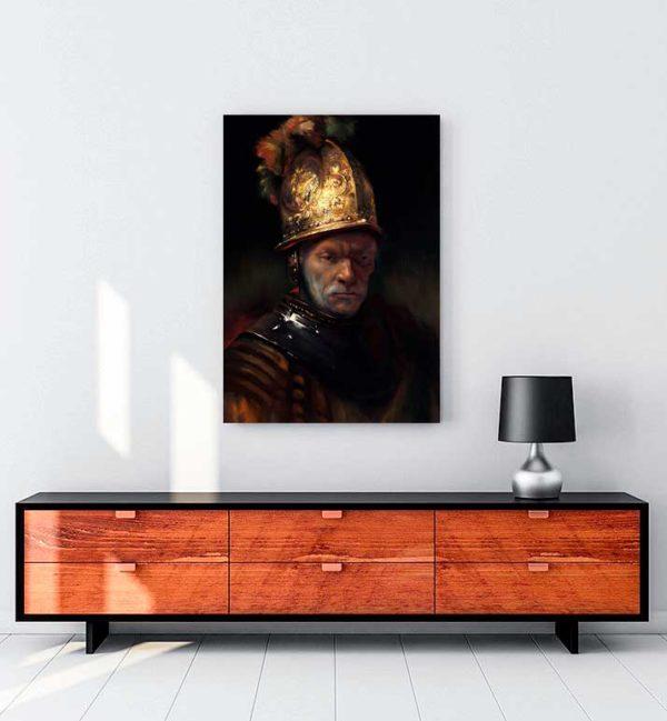 The Man With the Golden Helmet kanvas tablo